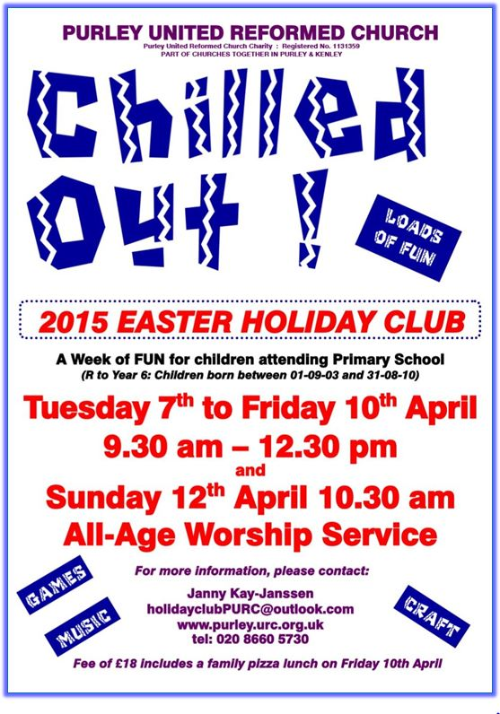 Easter Holiday Club 2015 - chilled