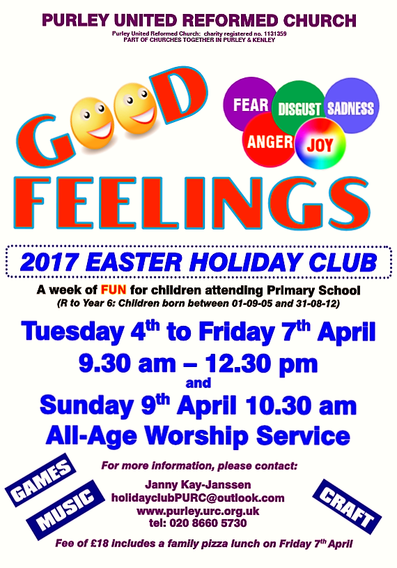 Easter Holiday Club is for Primary age children and the theme for 2017 ...